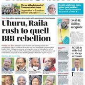 The Standard And Daily Nation Newspaper Headline About BBI