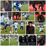 Check out photos of Chelsea and Liverpool training ahead of their match on Thursday