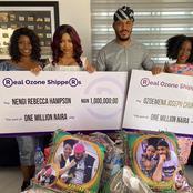 Fans react as Ozone Fans gift Nengi and Ozo one Million naira Each