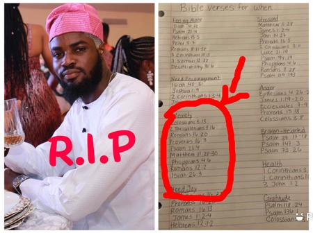 Depression Made Dele Killed Himself, Man Reveals Bible Verses That Helps Fight Against Depression