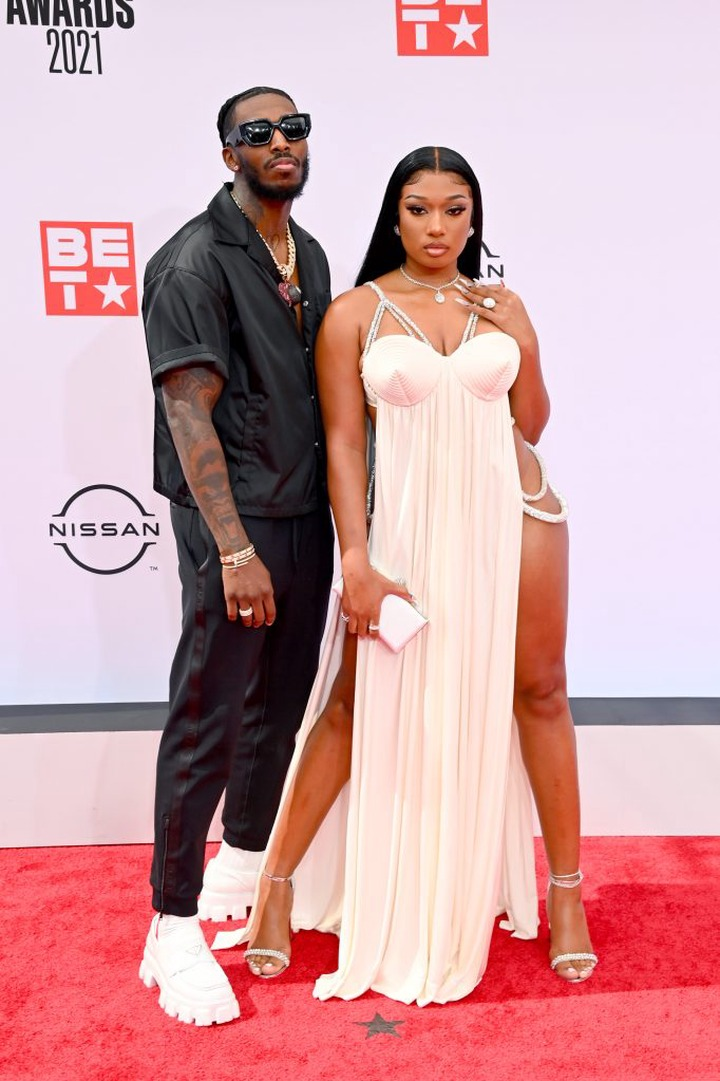 Megan Thee Stallion and her boyfriend Pardi Fontaine pack on the PDA at the BET Awards (photos)