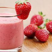 4 ingredients strawberries milkshake