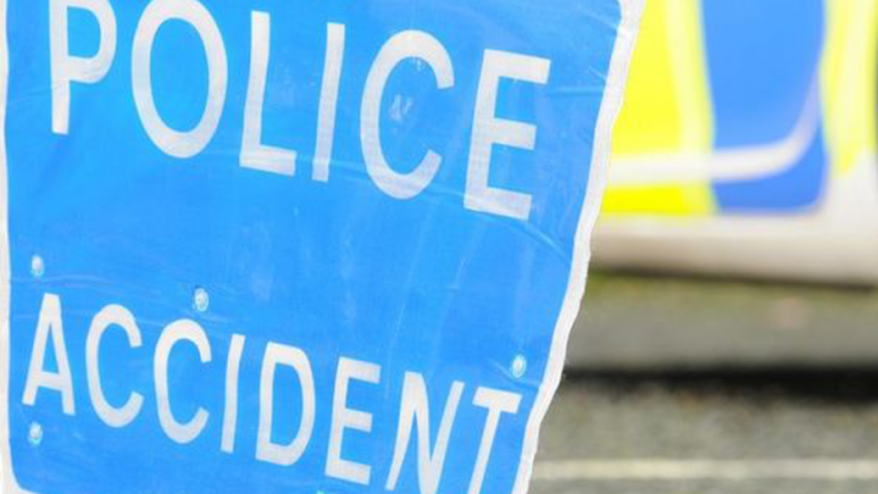 Police appeal for witnesses after a van collided with a marked police car leaving two officers injured