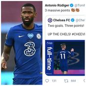 Despite Not Playing, See What Rudiger Said After Chelsea Win Against Everton