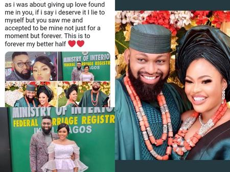 Reactions As Man Shares Emotional Message On How He Met His Wife After Searching For Love (Photos)