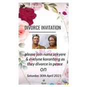 Funny Reactions as Ghanian man Invites everyone to his 'Peaceful divorce' set to take place soon.