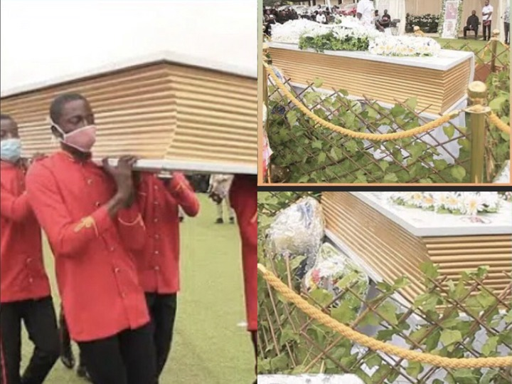 85119f46e7468b09d395973de5e27ca8?quality=uhq&resize=720 - The Bible Coffin that was used to bury Prophet Seth Frimpong causes stir (Photos)