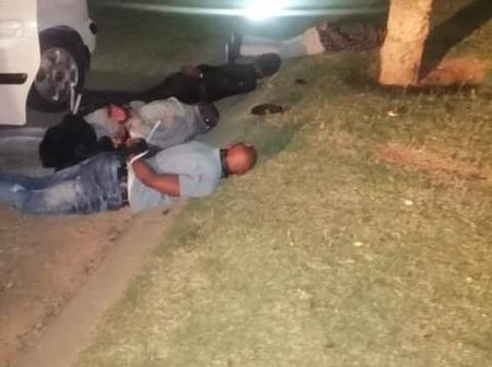 The two police were left in disbelief after what they found from dangerous men from Gauteng