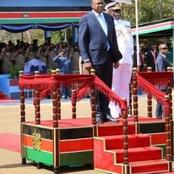 Kenyan Minister Who Build Himself a Presidential Dias at his Home and Made Addresses from There