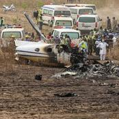 TRAGEDY! Small Aircraft hits the ground in Nigeria, See this?