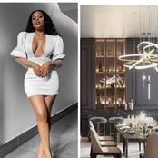 Fans go crazy over famous influencer, Kefilwe Mabote's beautiful interior at her home