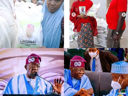 Nigerian's React As Tinubu Started Giving Out Bag Of Rice To Kano Resident Ahead Of Ramadan.