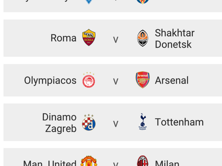 Uefa Europa League Draw Is Out; Manchester United Will Host AC Milan