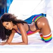 (Photos):meet the curvy Instagram model and queen Nigerian male celebrities are crushing on