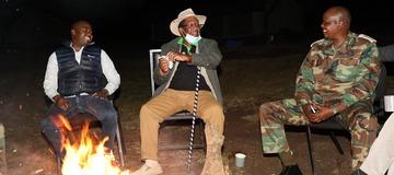 Photos of The Kenyan Cabinet Secretary Who Spent The Weekend in The Wild