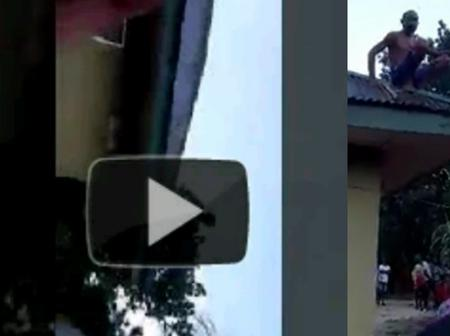 See what residents in Delta state woke up to find on a Rooftop (Video)