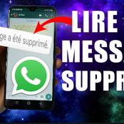 Voici comment lire les messages supprimés sur whatsapp
