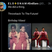 Ex-BBNaija Housemate Celebrates Birthday As He Shares Childhood Photos Of Himself & Twin Brother