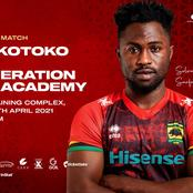 Kotoko plays a friendly game against Next Generation Football Academy at Adako Jachie