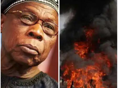 Today's Headlines: Obasanjo Drops Bombshell Over June 12 Election, 4 People Dead As Boko Haram Attacks UN Facility In Borno