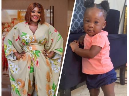 Mixed Reactions As Actress Mercy Johnson Gets Jealous Over Her Daughter's First Word Being Daddy.