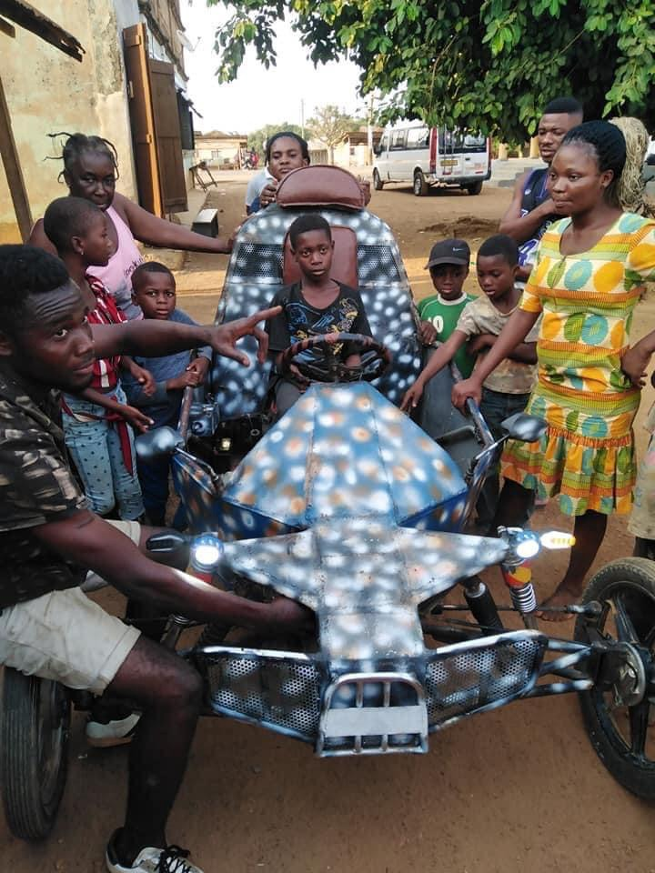 85c31d52a08f4e0ab60c88e116f87466?quality=uhq&resize=720 - Ghana Got Talent! Young Guy Builds His Own 'Three-Wheel Roadster', Beautiful Photos Drop