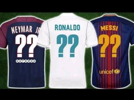 Can You Guess The Footballer's Shirt Numbers?