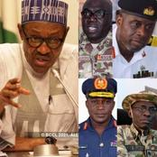 Read What Buhari Asked His New Service Chiefs To Do To Ensure Peace And Security
