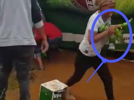 """Ban alcohol!"" Mzansi reacts to Kuruman residents stealing beer inside truck!"