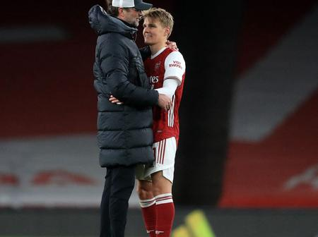 Arsenal Fans In Meltdown As They Spot What Jurgen Klopp Did To Odegaard After The Fulltime Whistle