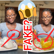See What People Noticed On This Lady After She Claimed That She Finished Two Wraps Of 'Fufu'