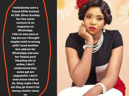 Lady Got Blocked By A Friend She Mistakenly Sent N200, 000 Instead Of 20,000