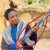 Kannywood Actress Hannatu Bashir Post New Photos With Gun. See Details.
