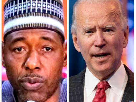 NEWS: Biden Sends Strong Message To Nigerians & Others, Power Should Be Shifted To South- Gov. Zulum