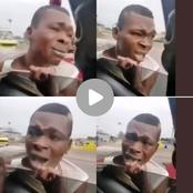 Thi$ Guy Tried To Snatch A Phone From A Moving Car Look What The Driver Did To Him, Is She Wrong?