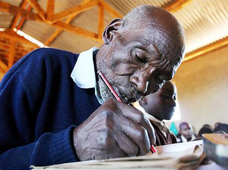 Oldest Pupil In The World Who Started Schooling At The Age Of 84