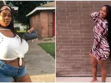 Lady stuns the internet with her amazing body transformation (photos)