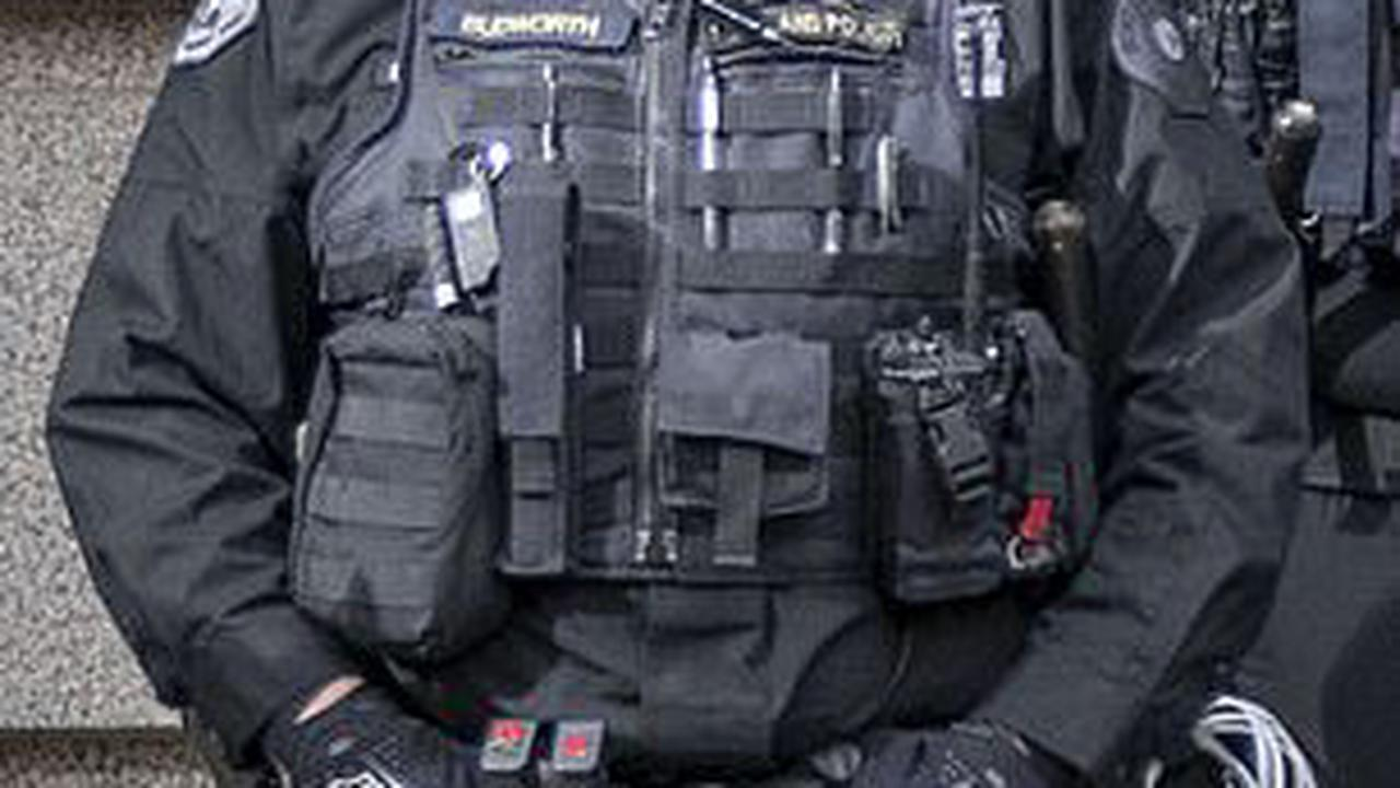Portland Police's entire riot squad of 50 RESIGNS in protest after cop was charged with assault for striking 'activist photographer' during BLM protest that saw federal building set alight