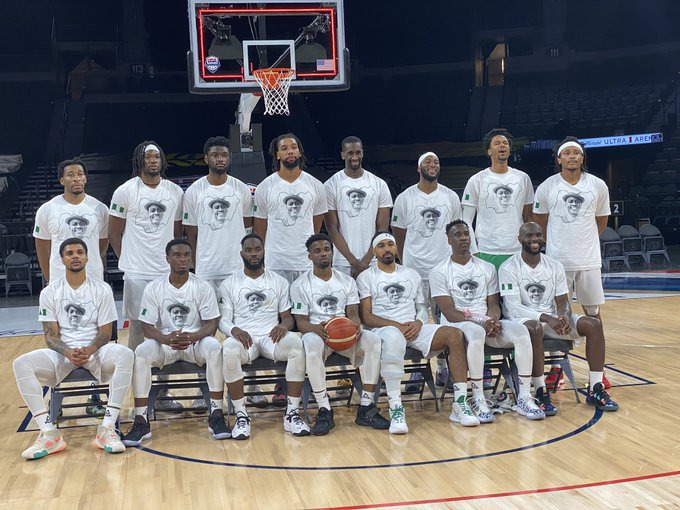 D'Tigers honour Sound Sultan with warmup shirts for their pre-Olympics game Vs Australia