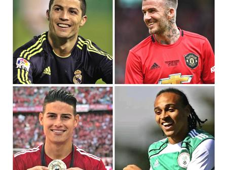 Top 10 of the most handsome footballers of all time. A Nigerian makes the list