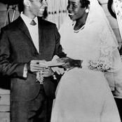 Cute Throw back photos of Bob Marley and his wife Rita during their wedding in 1966.