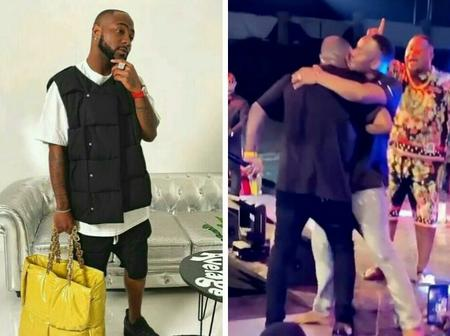 Zubby Michael Hugs Davido On Stage In Onitsha, Anambra State, Calls Him 'The Biggest Force' (video)