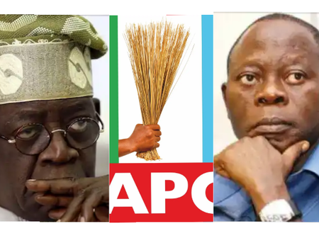 2023 Presidency: Bola Tinubu And Adams Oshiomhole, Who Does The Cap Fit Most?