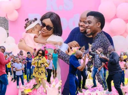 Photos: Gospel singer Sinach and her husband organized a birthday party for their first child