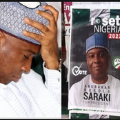 Bukola Saraki reacts, as posters of him contesting for 2023 presidency emerge in Abuja