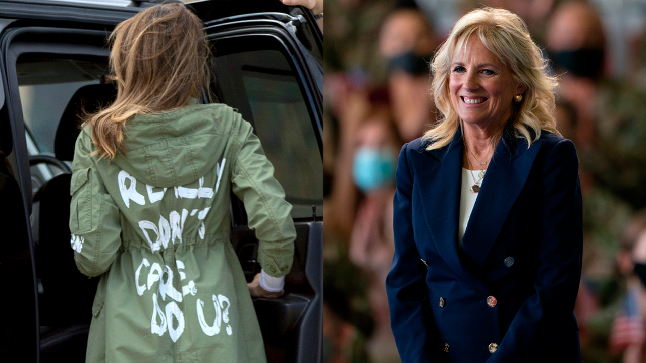 Jill Biden Low-Key Shaded Melania Trump's 'I Don't Care' Jacket With a Message of Her Own