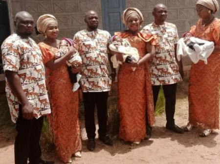Triplets who got married on the same day give birth to babies on the same day