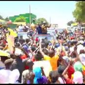 Baba Ni Baba! Raila Recieved a Heroic Welcome In Taita