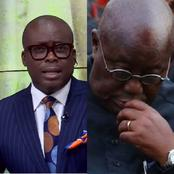 Trending- Paul Adom Otchere reacts to ongoing issues concerning Nana Addo and causes massive stir