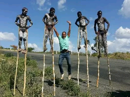 Meet Banna Tribe Of Ethiopia Where Young Men Walk On Stilts To Protect Themselves